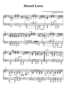 Anita Baker Sweet Love sheet music